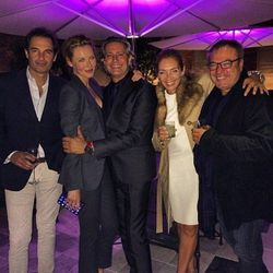 The late night crew from the Valentino opening party.