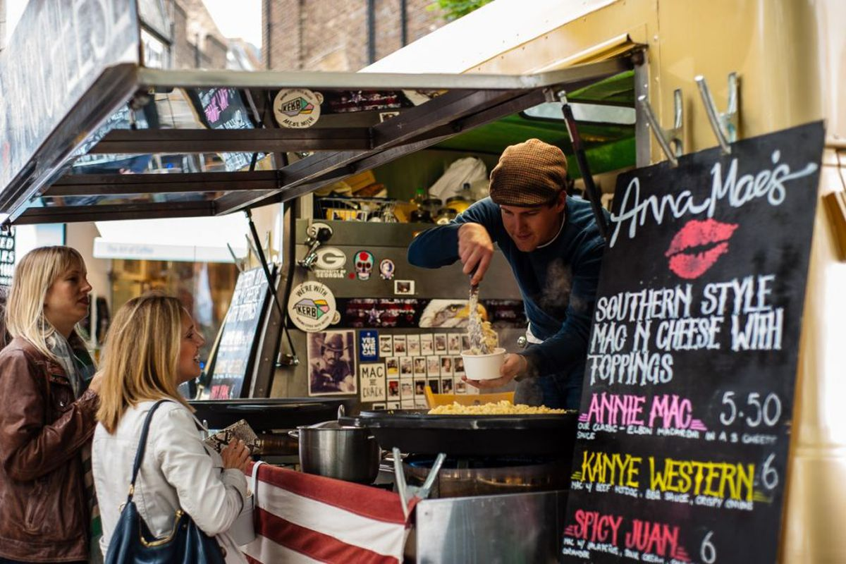 Street food stall at Kerb, which will open a Covent Garden street food market in Seven Dials