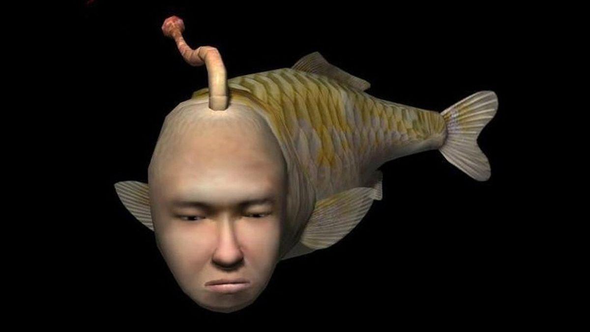 A screenshot of Seaman from Sega Dreamcast