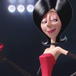 """Scarlet Overkill (voiced by Sandra Bullock) is the first-ever female supervillain in """"Minions."""""""