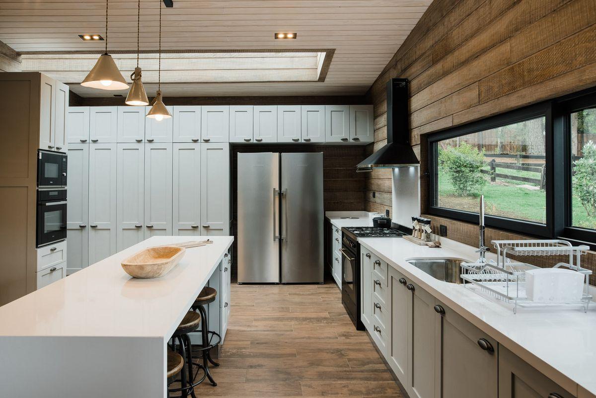 Kitchen featuring built-in storage