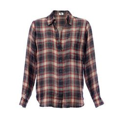 Red Plaid One Pocket Blouse ($225)