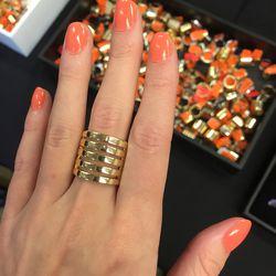 Gold ring, $12