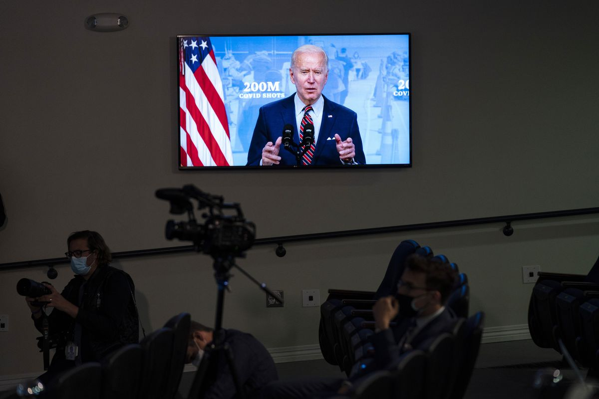 President Joe Biden speaks about COVID-19 vaccinations at the White House, Wednesday, April 21, 2021, in Washington.