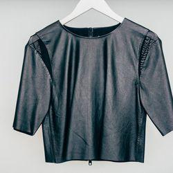 "Bec & Bridge 'Babylon' leather tee, <a href=""http://www.shopcondor.com/bec-bridge-babylon-leather-tee.html"">$192</a>"