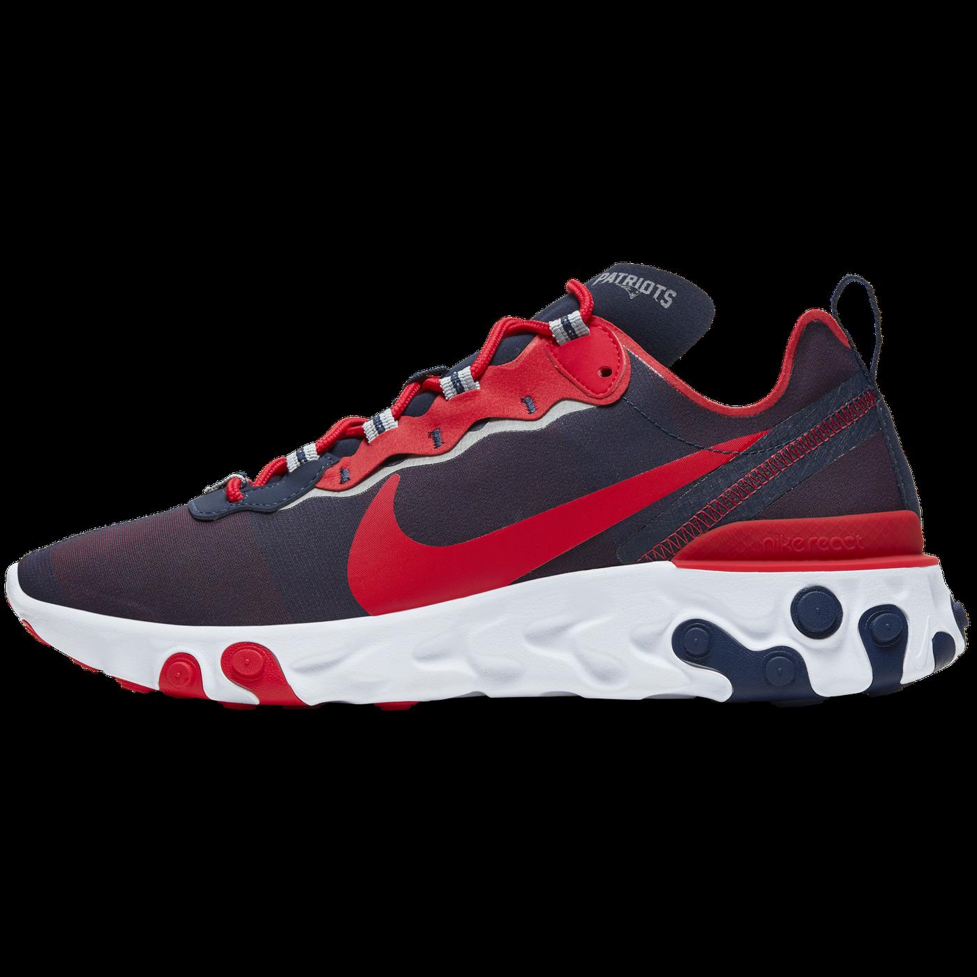 gitarr syfte Prompt  Nike drops new React Element 55 New England Patriots shoe ...