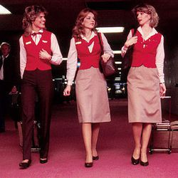 """The hot pants were replaced by real pants in the 80s. Photo via <a href-""""http://www.tlc.com/tv-shows/on-the-fly/photos/southwest-vintage-flight-attendant-fashion-pictures.htm"""">TLC.</a>"""