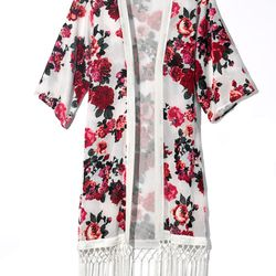 Floral robe, $49.95