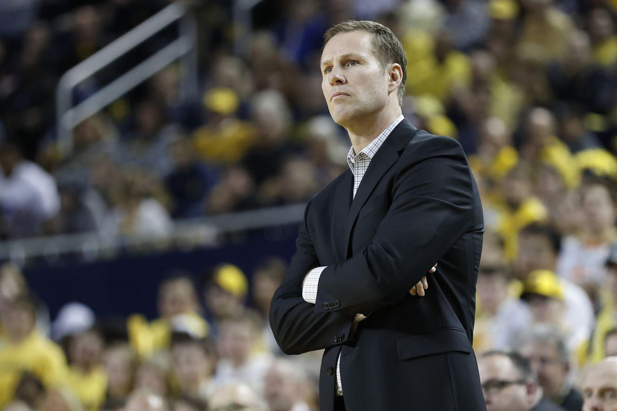 Nebraska Cornhuskers head coach Fred Hoiberg watches during the second half against the Michigan Wolverines at Crisler Center.