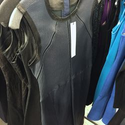 Blue leather dress, $500 (was $2,100)