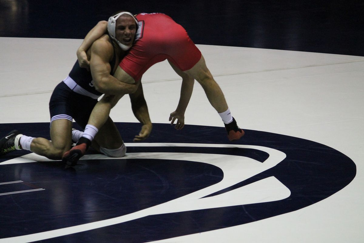 Frank Molinaro leads Penn State to their final two Big Ten duals (Photo: BSD/Galen)