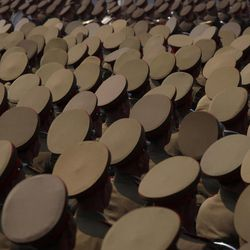 North Korean military members attend a mass meeting of North Korea's ruling party at a stadium in Pyongyang on Saturday April 14, 2012. North Korea will mark the 100-year birth anniversary of the late leader Kim Il Sung on Sunday April 15.