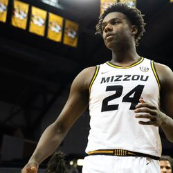 Freshman Kobe Brown struggled in his limited playing time
