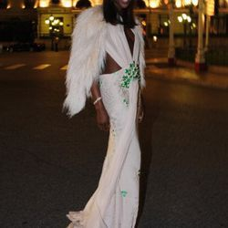 Naomi Campbell (in Givenchy) at a post-wedding dinner