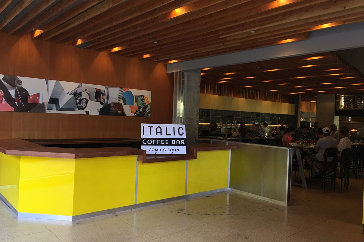 Italic's new cafe, coming soon
