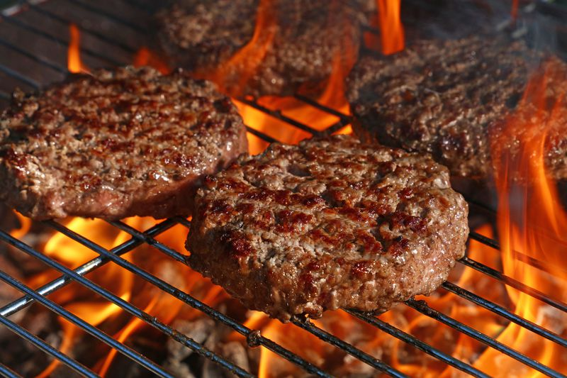 Hamburgers like high heat when it comes to cooking them, so make sure your outdoor barbecue grill is properly fired up.