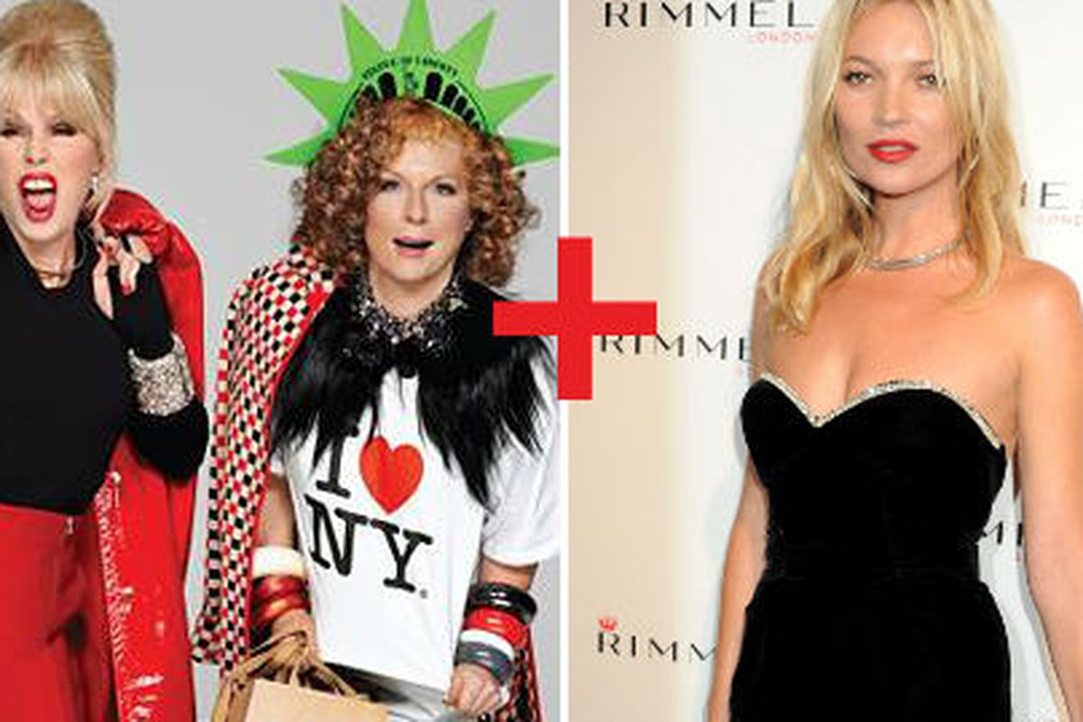 Kate Moss will join the cast of Ab Fab for a special episode. Image via Getty