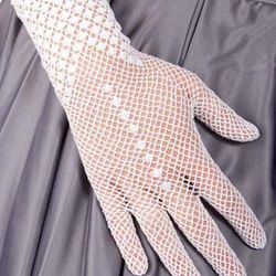 White poise gloves, $12, modcloth.com