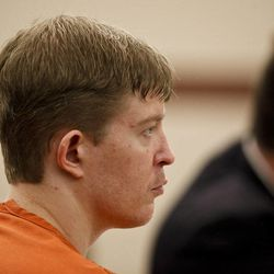 Matthew David Stewart listens during the third day of his preliminary hearing at 2nd District Courthouse in Ogden on Friday, Nov. 2, 2012.