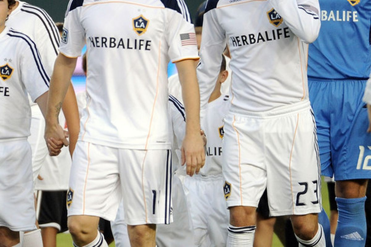 Robbie Keane and David Beckham have brought all the fans to the yard.