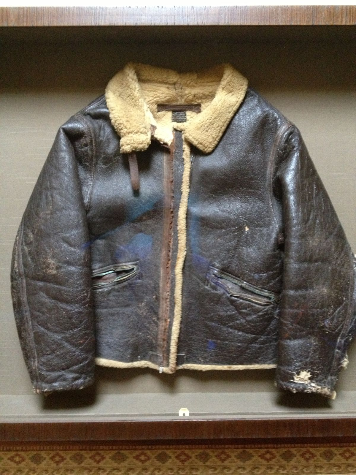 """James """"Bud"""" Wilschke's original flight jacket was lost for decades after the South Side airman bailed out of his burning B-17 bomber and hid from the Nazis for six months during World War II. When he finally returned to France and to the farm where he was rescued, the son of the farmer had a surprise waiting for him: his jacket."""