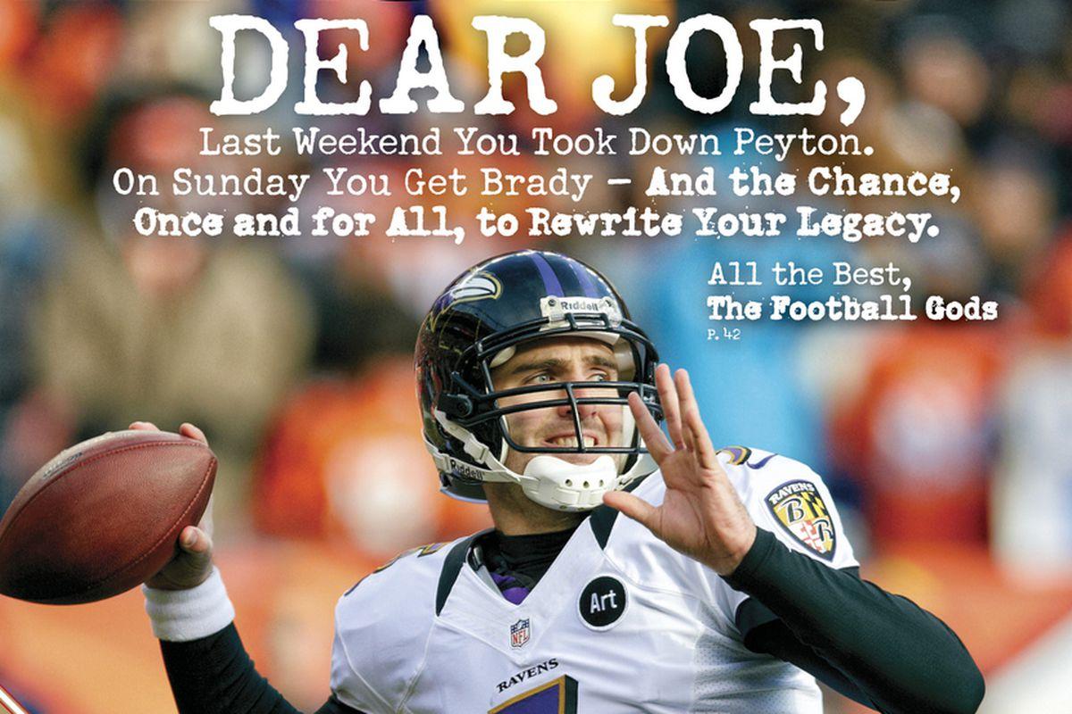 Ravens QB Joe Flacco's Sports Illustrated cover photo