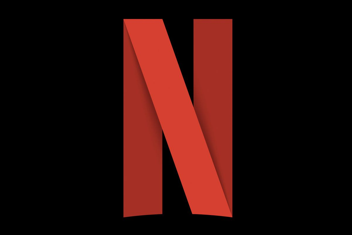 Netflix logo on black