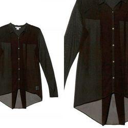 "<b>Helmut Lang</b> Ghost Silk Shirt in Black, <a href=""http://otteny.com/ghost-silk-shirt.html"">$195</a>"