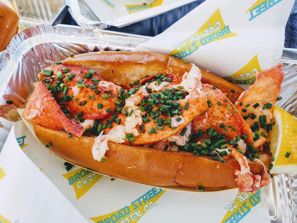 Lobster roll at Broad Street Oyster Co. in Malibu.