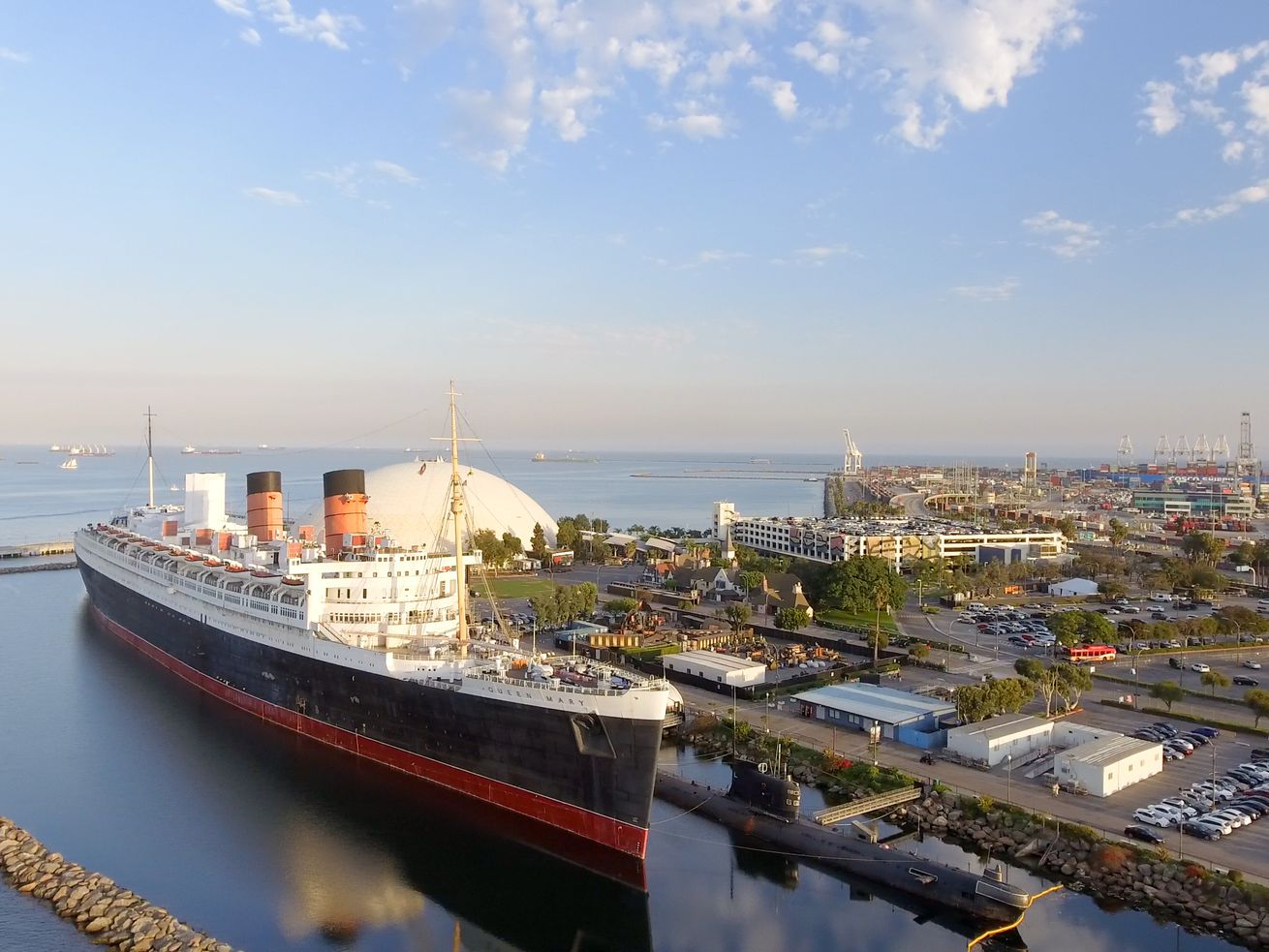 Queen Mary operator Urban Commons is planning a new entertainment complex alongside the ship.
