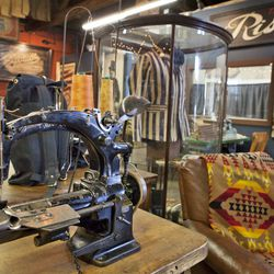There is no shortage of machines in the workshop, it takes 8-9 to make one pair of jeans properly.