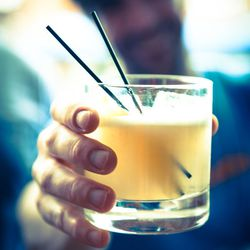 Drinks included the Winslow Sour: bourbon, lemon juice, apple bitters, egg white