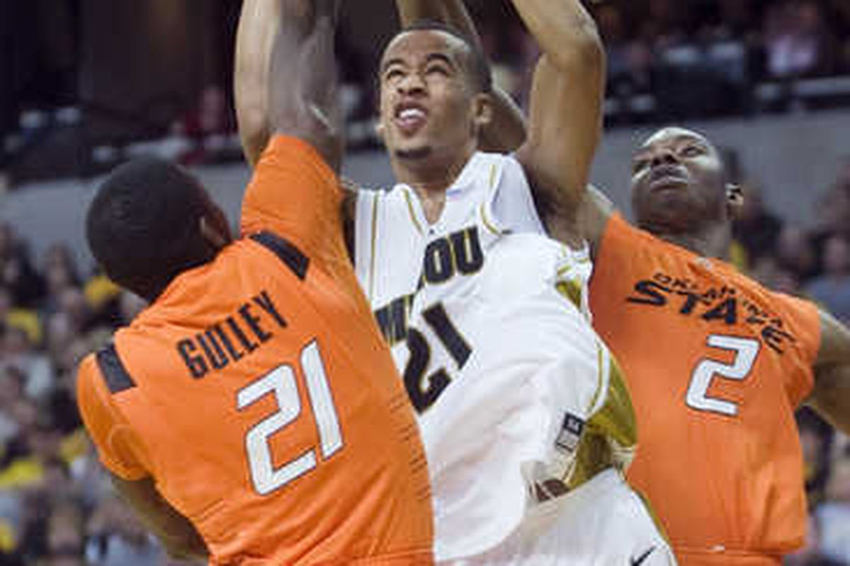 When you play Oklahoma State, this is the kind of defensive effort you are bound to experience - double teaming pressure.