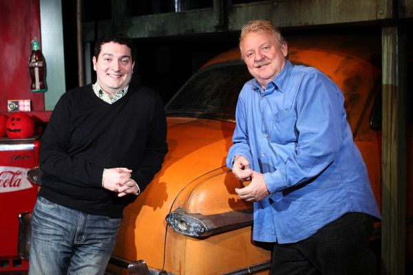 """PJ Paparelli (left) pictured in 2011 with Jim Jacobs during the run of """"The Original Grease"""" at American Theater Company.   Sun-Times Photo"""