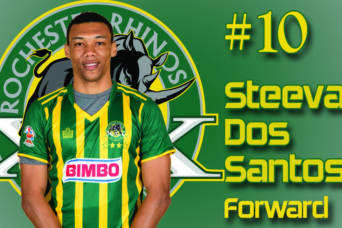 """Steevan Humberto Fortes """"Duba"""" Dos Santos netted his first goal for Rochester to win the game in stoppage time"""
