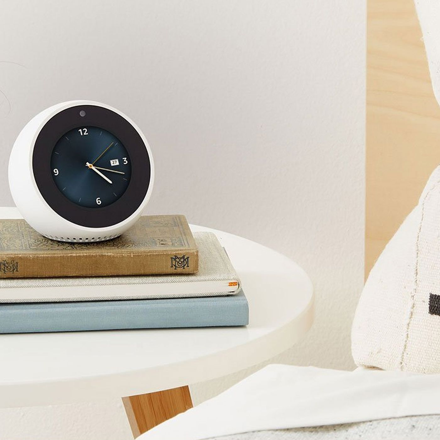 amazons echo spot is a sneaky way to get a camera into your bedroom the verge - Bedroom Clock