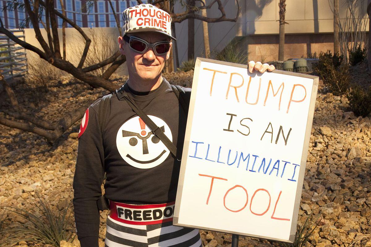 A man claims Donald Trump is part of the Illuminati.
