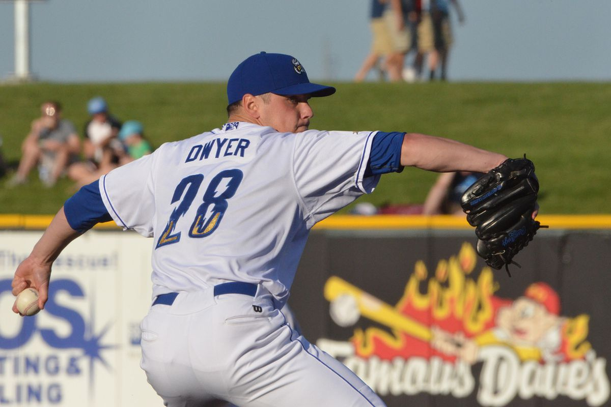 Chris Dwyer in action earlier this season