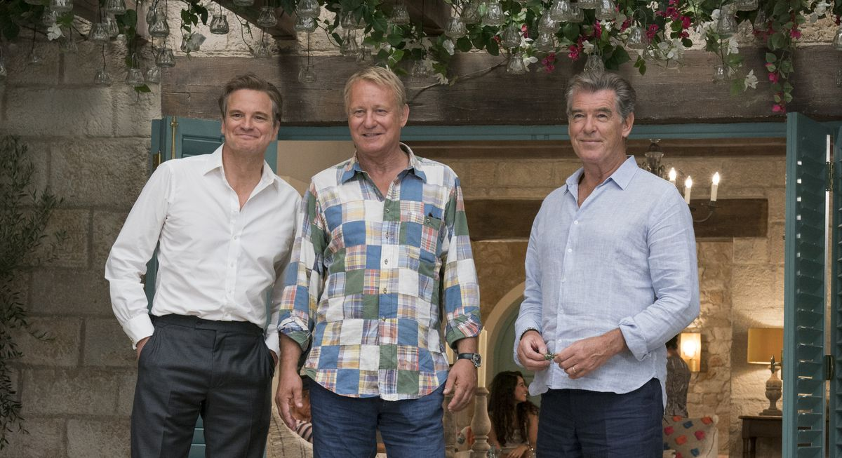 Colin Firth, Stellan Skarsgaard, and Pierce Brosnan in Mamma Mia Here We Go Again