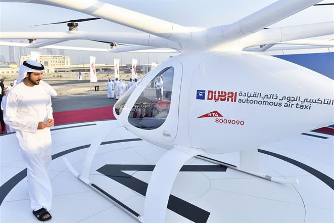 The launch of the Dubai Drone Taxi