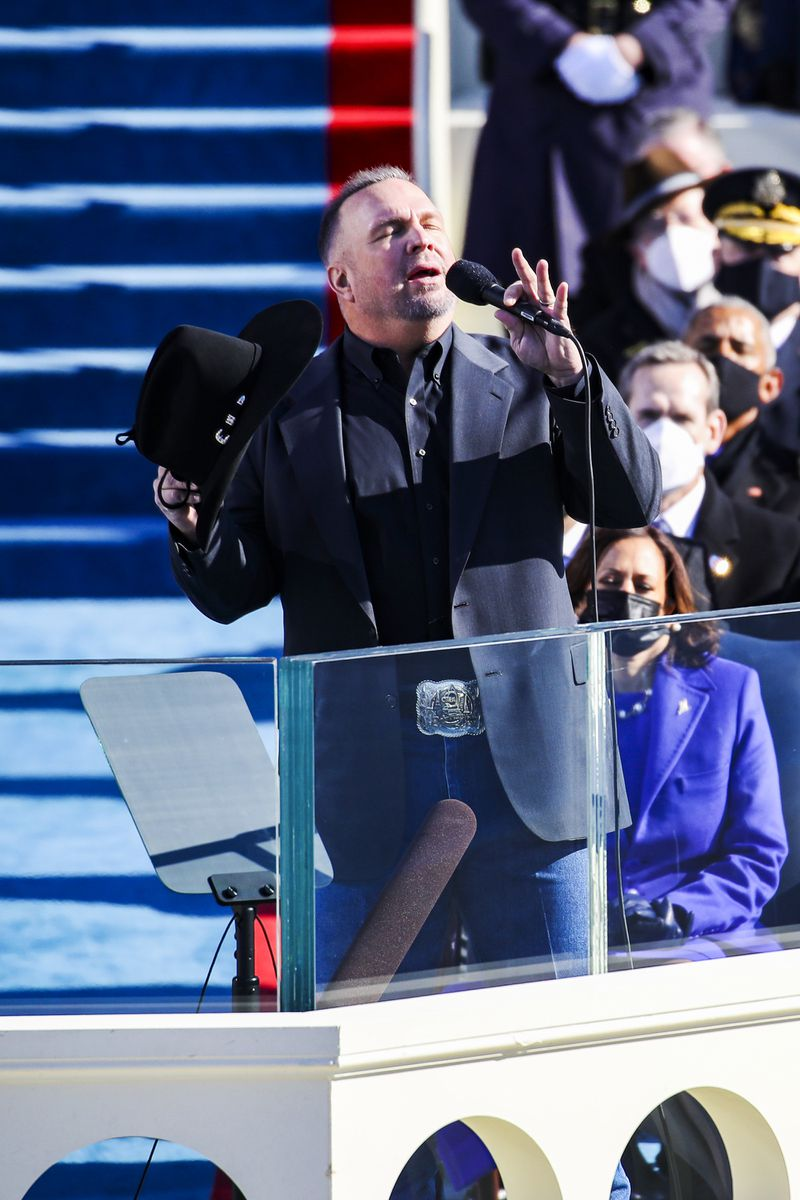 Garth Brooks performs at the inauguration.