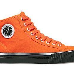 "PF Flyers Unisex Center Hi, <a href=""http://www.pfflyers.com/Center-Hi/PM13OH1-C,default,pd.html?dwvar_PM13OH1-C_color=Orange_with_Black&start=1&q=orange"">PF Flyers</a>, $41.99"