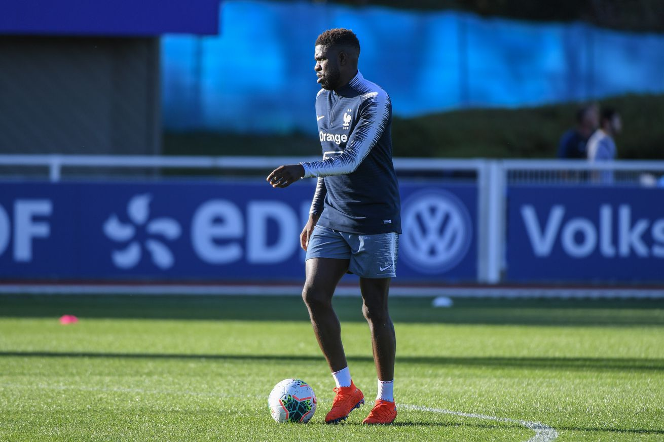 Umtiti ruled out of France clash & returns to Barcelona