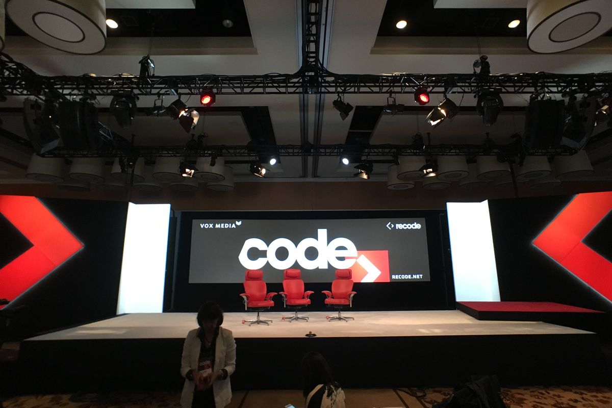 Stage at Code Conference