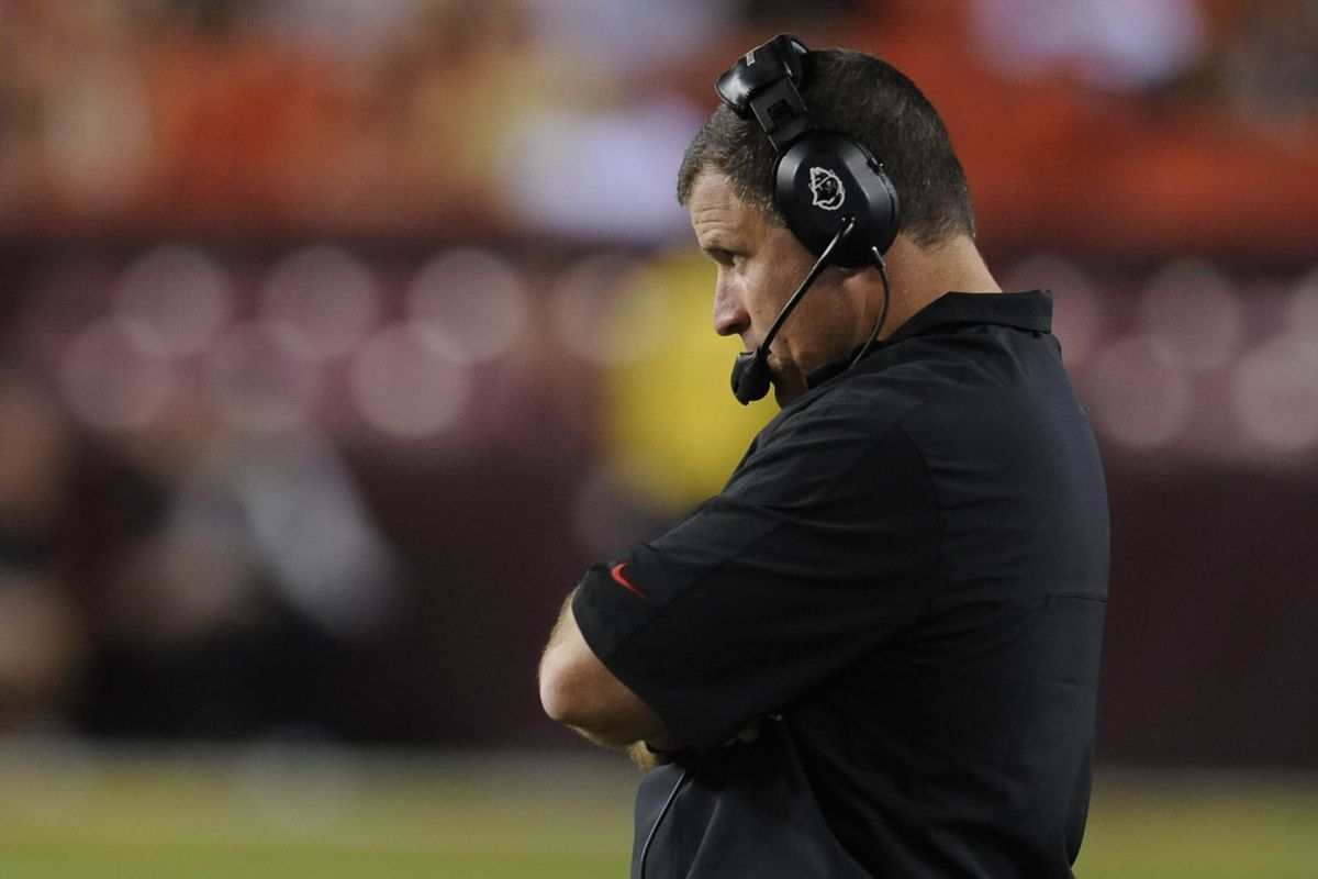Aug 29, 2012; Landover, MD, USA; Tampa Bay Buccaneers head coach Greg Schiano against the Washington Redskins during the second half at FedEx Field.  Mandatory Credit: Rafael Suanes-US PRESSWIRE