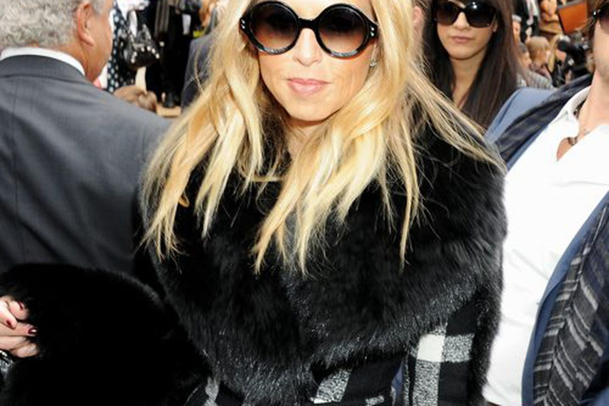 Rachel Zoe at yesterday's Burberry Prorsum spring 2012 show in London (Getty Images)