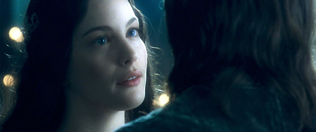 Liv Tyler as Arwen in The Fellowship of the Ring.