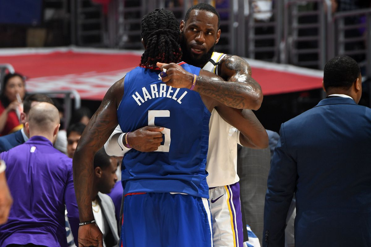 Lakers News Montrezl Harrell Has Been Envisioning Running Plays With Lebron James Silver Screen And Roll
