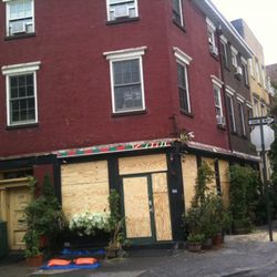 Plywood up at The Spotted Pig.