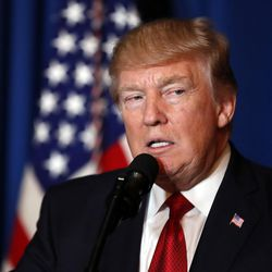 """FILE - In this April 6, 2017, file photo President Donald Trump speaks at Mar-a-Lago in Palm Beach, Fla. After President Donald Trump""""™s election victory, the United States and Russia appeared headed toward their smoothest ties in decades. Not anymore. (AP Photo/Alex Brandon, File)"""